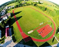 Pajūrio miestelio gimnazijos stadionas. Šilalės raj.
