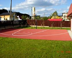 Krepšinio aikštelė privačioje valdoje